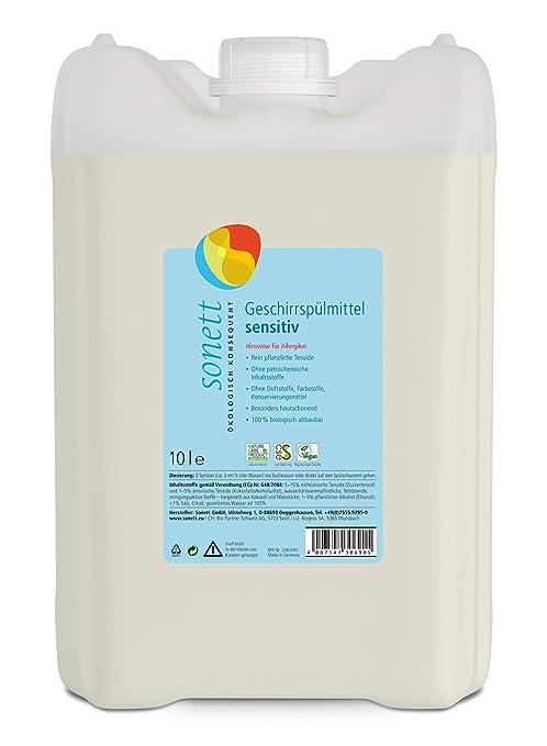 Soneto Detergente para lavavajillas Sensitiv: sin perfume ...