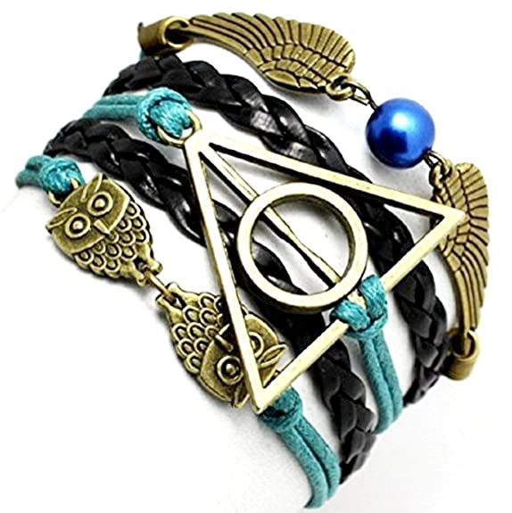36 opinioni per Bracciali Harry Potter con simboli Golden Snitch & Death Hallow e gufo/civetta-