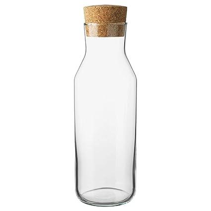 IKEA 365 + – botella con tapón de vidrio transparente/corcho