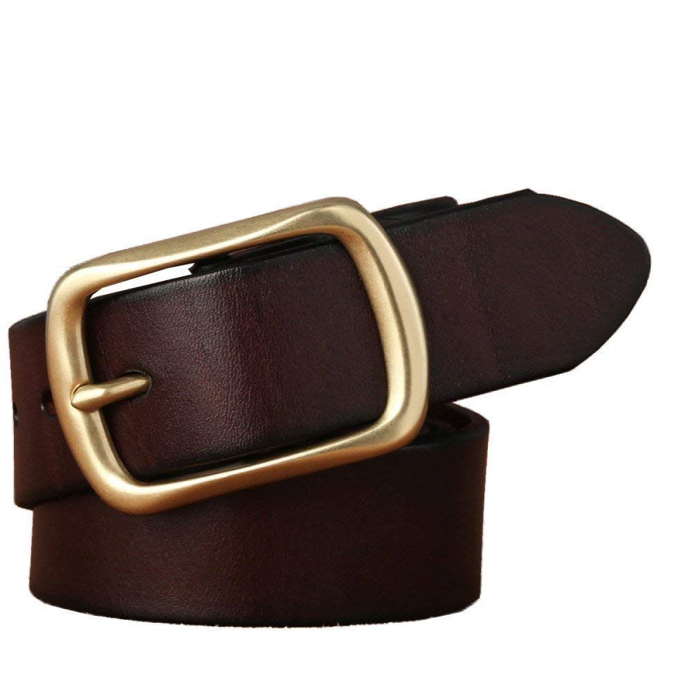 LVLUOYE Men Belt s Real Leather Casual Buckle For Copper Durable Business Jeans Rtel