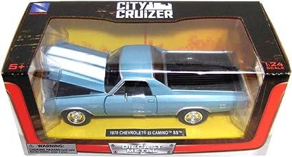 Amazon Com Chevrolet 1970 El Camino Ss Blue 1 24 By New Ray 71885 Toys Games