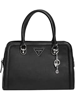GUESS Factory Womens Braelynn Faux-Leather Satchel