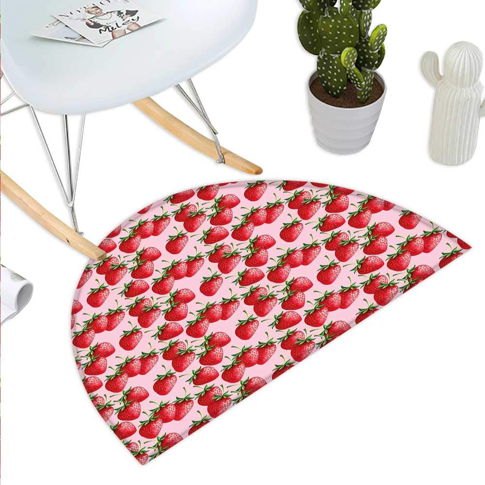 color11 H 23.6  xD 35.4  Red Semicircle Doormat Ethereal Abstract Sunset Scenery with Blossoming Sakura Sprigs and Butterflies Halfmoon doormats H 27.5  xD 41.3  Coral orange Red