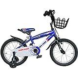 BTM 子ども用自転車 補助輪付き 軽量 16インチ 95%組立完了 1年安心保証 PL保険加入済み クリスマスプレゼント ブルー