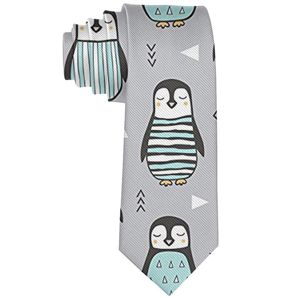 Pingüinos unisex con suéter Corbata de seda geométrica Hombres ...