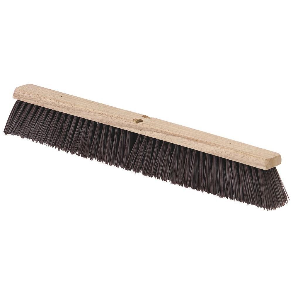 24 inch Flo Pac Brown Heavy Polypropylene Garage Floor Sweep -- 12 per case