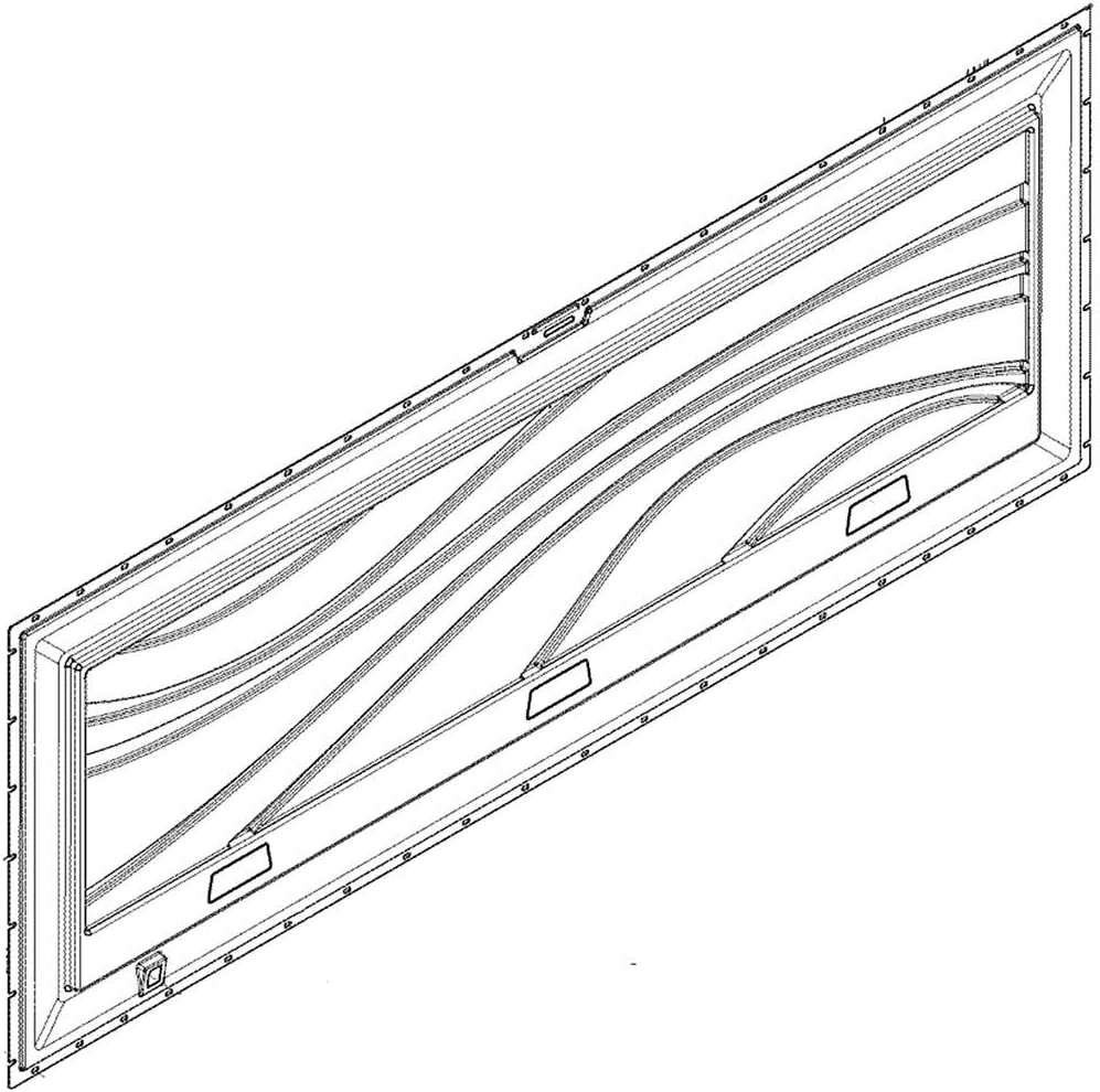297376301 Freezer Lid Inner Panel Genuine Original Equipment Manufacturer (OEM) Part