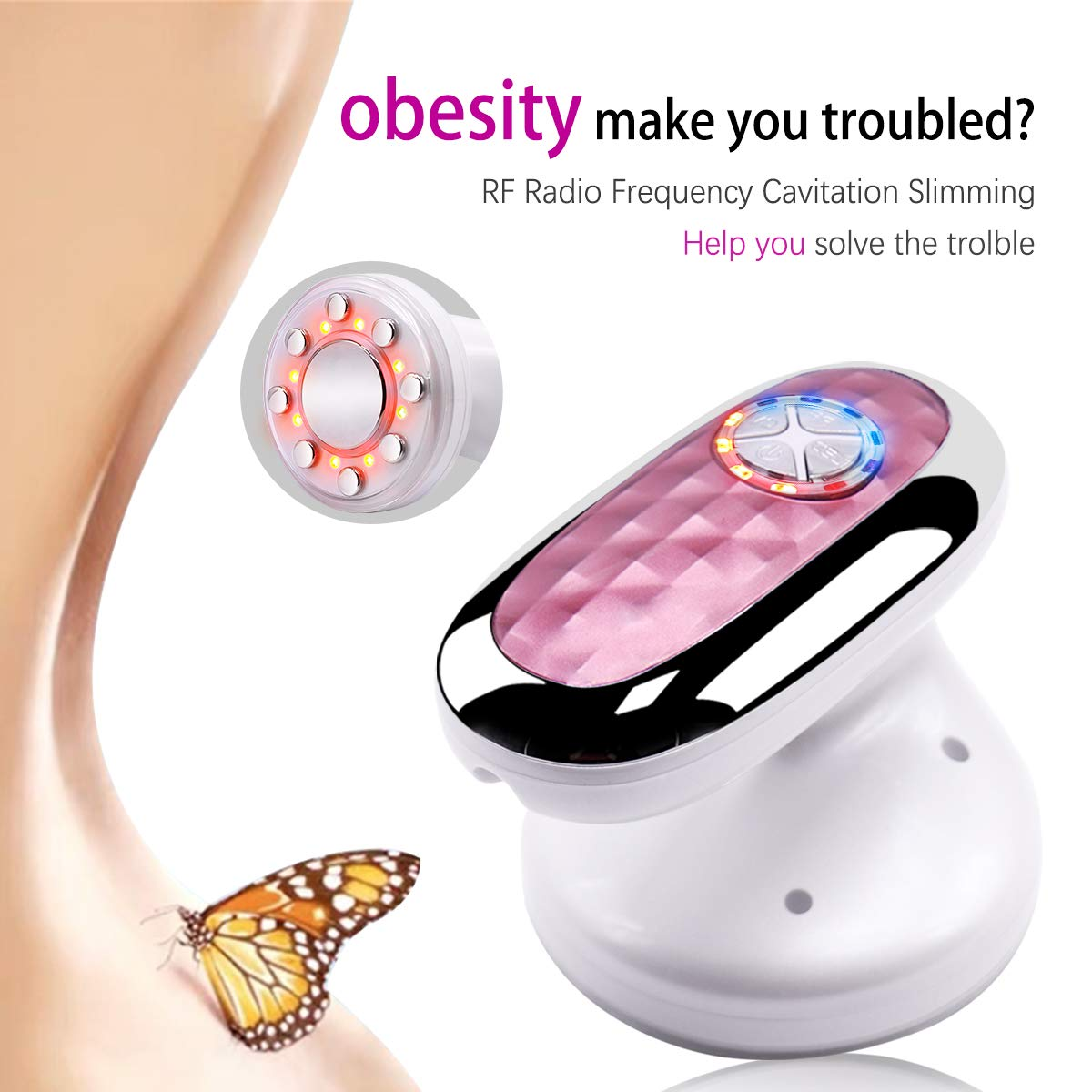 Weight Loss Massager 3 in 1 Red Light Body Shaping Machine R/F Anti Wrinkle Beauty Skin Tightening ToolsRechargeable Portable Body Fat Burner Device by OLIVIA PRICE
