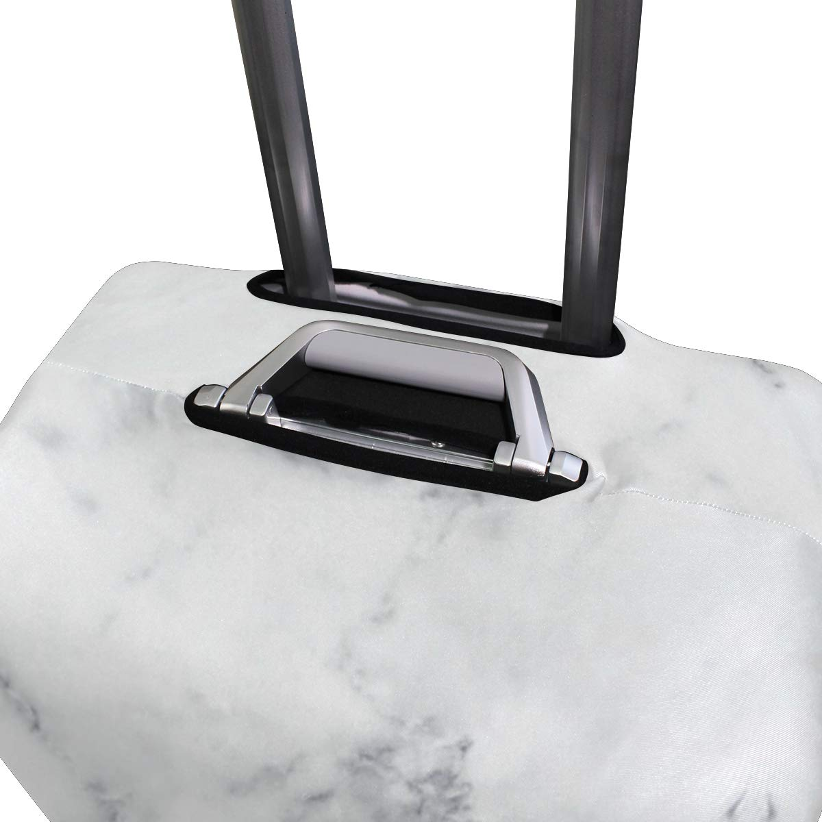 White Marble Rock Travel Suitcase Protector Zipper Suitcase Cover Elastic