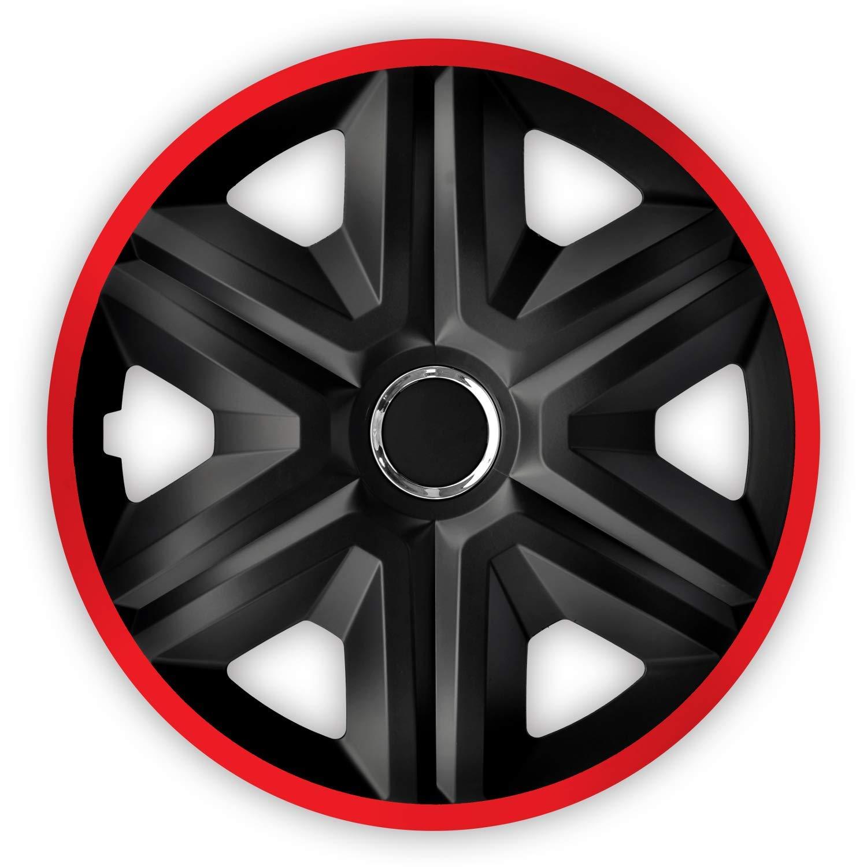 Red Luckyberg Radkappen Fast LUX//Action 14 Zoll 4er Set Universal Fit f/ür Autos und andere Fahrzeuge