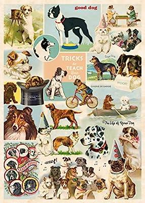 "Cavallini Dog Collage Poster Wrap 20"" x 28"" Italian Archival Paper Decoupage"