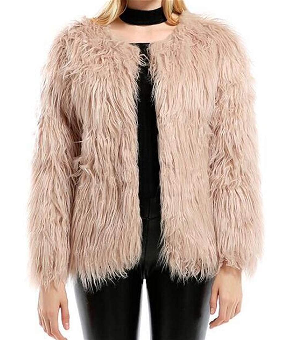 VaeJY Women Thermal Over Size Winter Hairy Long Sleeve Jacket Fashion  Outwear one US XS: Amazon.in: Clothing & Accessories