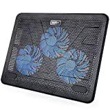 "Laptop Cooling Pad, AUKEY Laptop Cooler 15.6""-17"" with Three 120mm Quiet Fans & Ultra Slim Portable USB Powered"