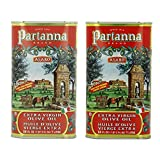 Partanna Extra Virgin Olive Oil 1 Liter (34-ounce) Can (Pack of 2)