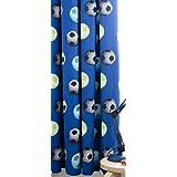 Catherine Lansfield Kids Football Curtains - Blue