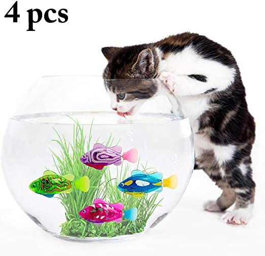 Legendog 4 Piezas Juguetes para Gatos Juguetes con Agua Que Nadan con Agua Activado Juguetes Interactivos para Gatos: Amazon.es: Productos para mascotas