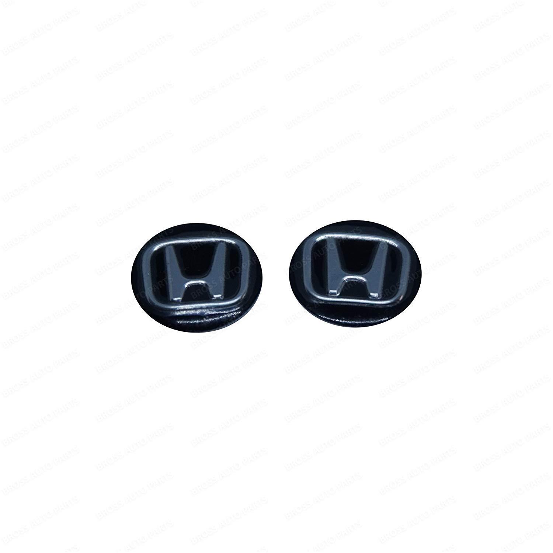Bross BDP839FBA 2 Pieces Car Key Logo Auto Emblems 14 mm for Honda