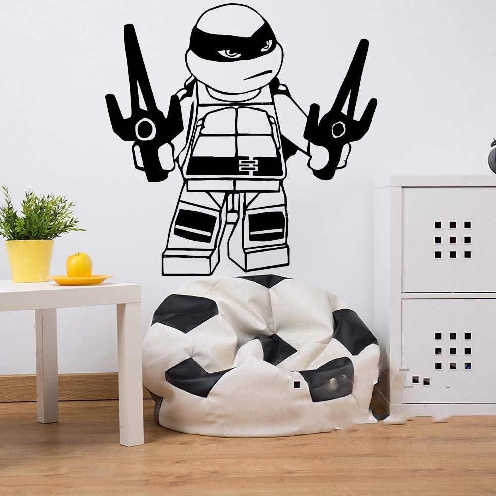 pegatinas decorativas pared Tortuga Ninja Anime Etiqueta de ...
