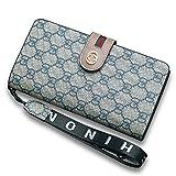 Van Persie Women's Long Bi-fold PU Leather Purse Zipper Card Organizer Fashion Wallet (Grey2)