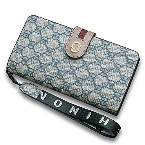 Van Persie Women's Long Bi-fold PU Leather Purse Zipper Card Organizer Fashion Wallet - Gucci Discount