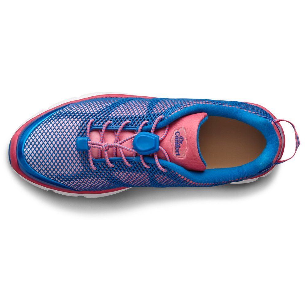 Dr. Comfort Katy Womens Sneaker B00L2OGHK0 -7.5 Medium (A-B) Pink/Blue Lace US Woman|Pink and Blue