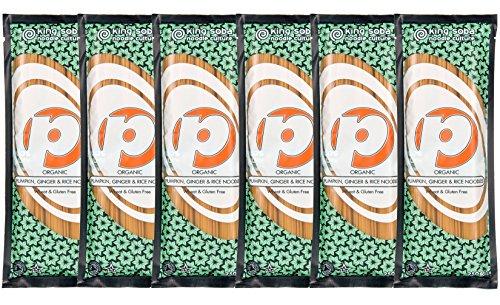 King Soba Gluten-Free, Organic Brown Rice, Pumpkin & Ginger Pasta Noodles 6-PACK