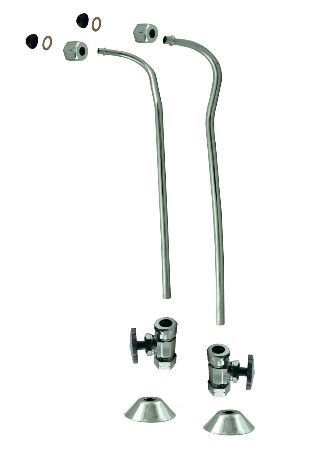Westbrass D136-110-26 Copper Stops 1/2 Double Offset Bath Supply, Polished Chrome by Westbrass