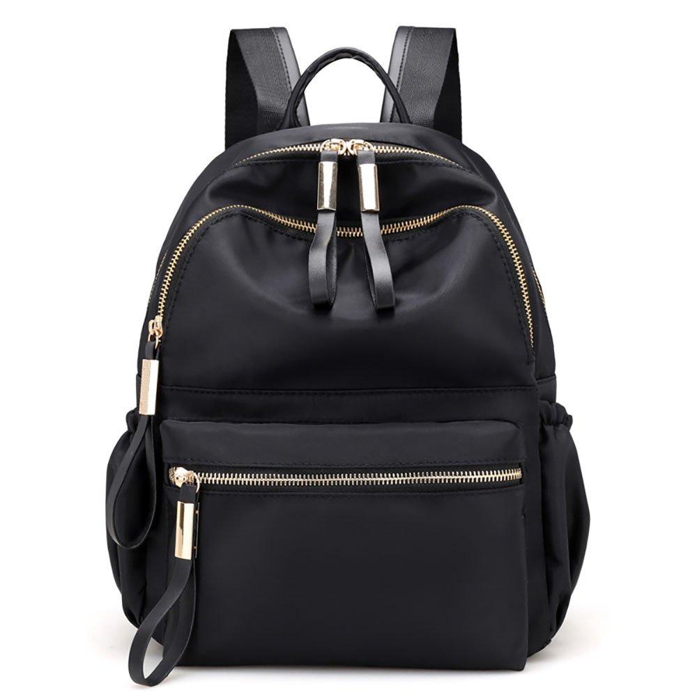 JESPER Nylon Oxford Cloth Backpack Women Backpack College Wind Bag Leisure Bag Black by JESPER (Image #1)