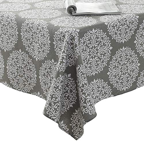 Tablecloth,JZY Cotton Linen Table Cover 55 x 55 inches for Dining Table,Dust-Proof Table Cloth For Square - Medallion Table