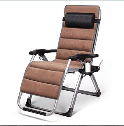 ZLJTYN Lounge Chairs, DECK Chairs, Oversized Padded Zero Gravity Lounge  Chair Patio Adjustable Recliner