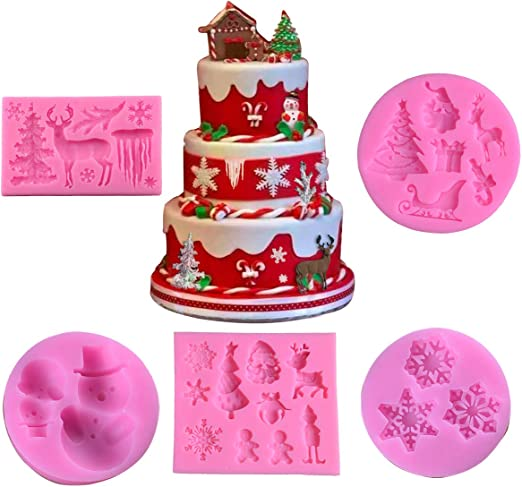 Christmas 3D Silicone Candy Cake Baking Chocolate Fondant Decorating Mold