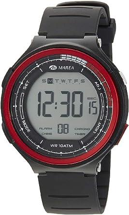 Reloj Marea Digital Sumergible 100m Bisel Rojo B44101/1: Amazon.es: Relojes