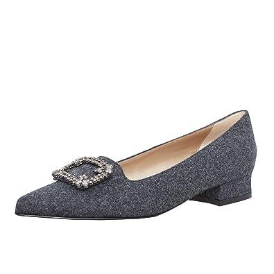 dirndl + bua Damen Dirndl-Schuhe Ballerinas Sabine in Grau Trachten-Schuhe,  Schuhgröße 6c527eef11