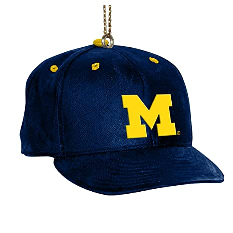 Image Unavailable. Image not available for. Color  NCAA Michigan Wolverines  Baseball Cap Ornament 32ed9761085