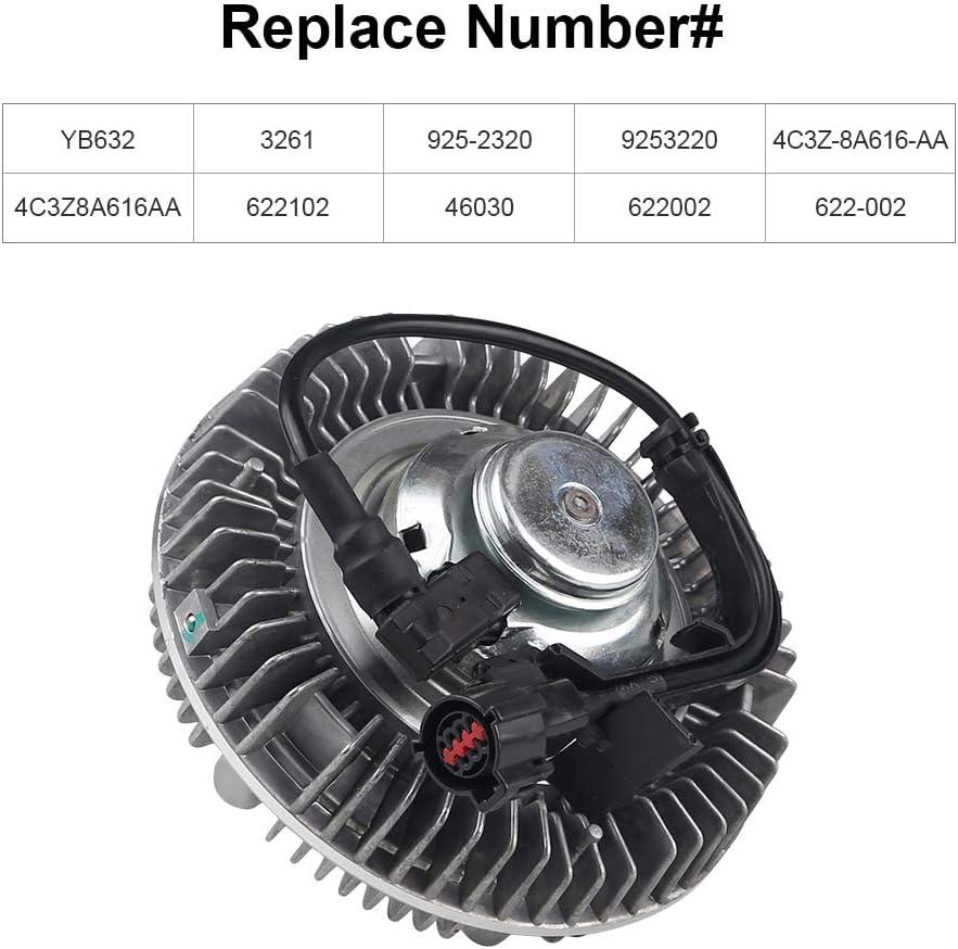 WATERWICH Compatible with Fan Clutch Ford 2003 2004 2005 2006 2007 F250 F350 F450 F550 Super Duty E-350 E-450 E-550 6L V8 Powerstroke Diesel Engines Replace# YB632 Excursion