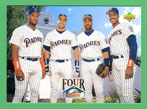 fan products of San Diego Padres 1993 Upper Deck **Borderless Baseball Card** **Four Corners** Gary Sheffield, Phil Plantier, Tony Gwynn, Fred McGriff