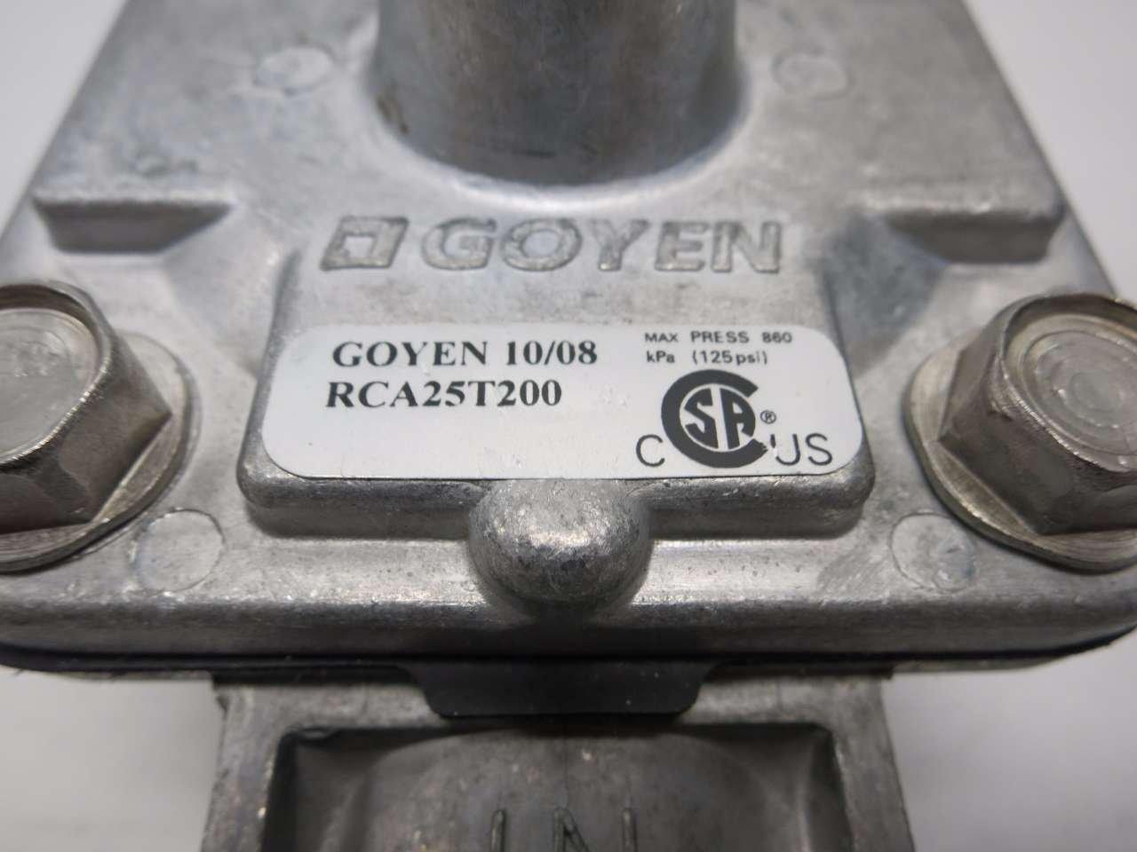 NEW GOYEN RCA25T200 125PSI 1 IN NPT THREADED DIAPHRAGM VALVE D500122