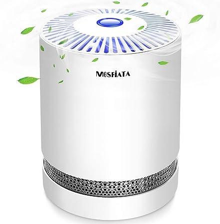 MOSFiATA Purificador de Aire, ambientador con Filtro HEPA Activo purificador de Aire de Carbono para Limpieza del ...