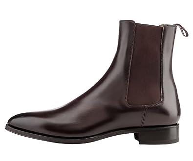 1db6b2e4240 FootGift Bottine homme noir en cuir à la mode avec bout pointu EU50 ...
