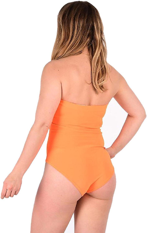 Islander Fashions Womens Neon Colors Body Leotard Top para Mujer Leggings y Pantalones Cortos elsticos pequeos//Grandes