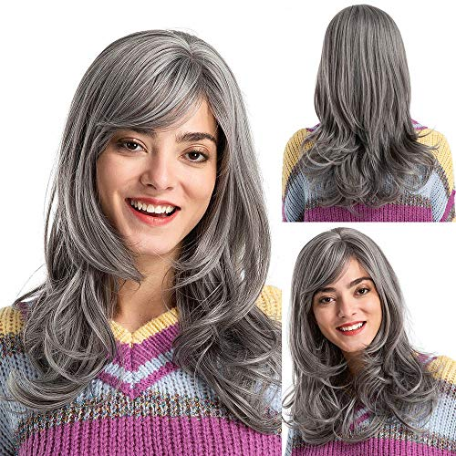 - Health & Beauty Hair Wig Fashion Natural Wavy Grey Long Curly Wig for Woman Wig Artificial Hair Wigs
