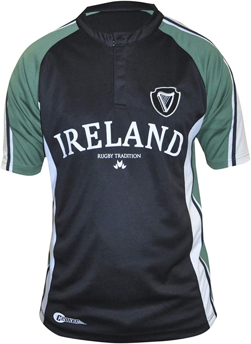Croker Traditional Rugby Jersey Mens Irish Ireland Embroidered Shirt New