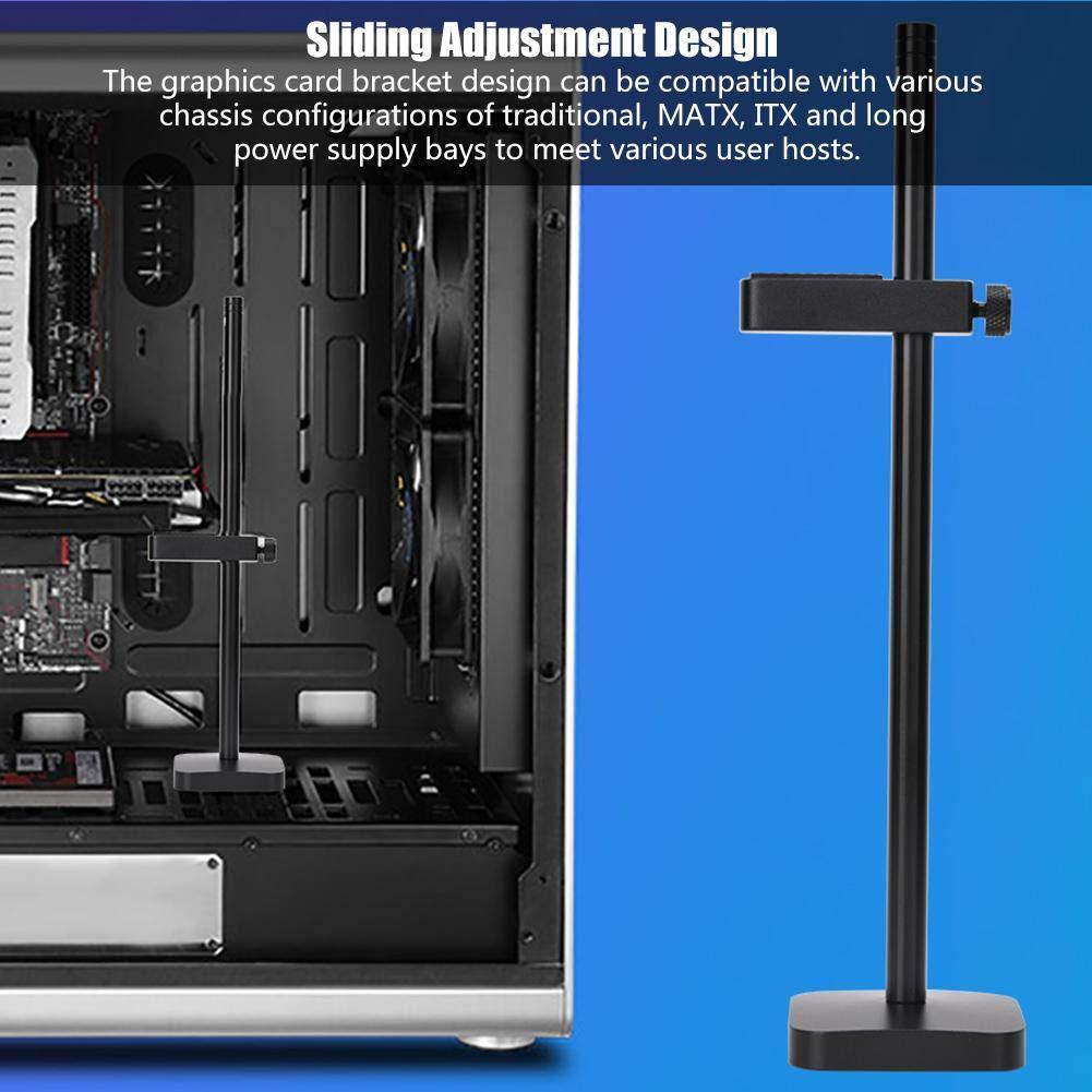 pulido de aluminio Soporte de soporte ajustable de soporte de soporte de tarjeta gr/áfica de soporte de gr/áficos Blanco Soporte de soporte de soporte de abrazadera de GPU de tarjeta gr/áfica