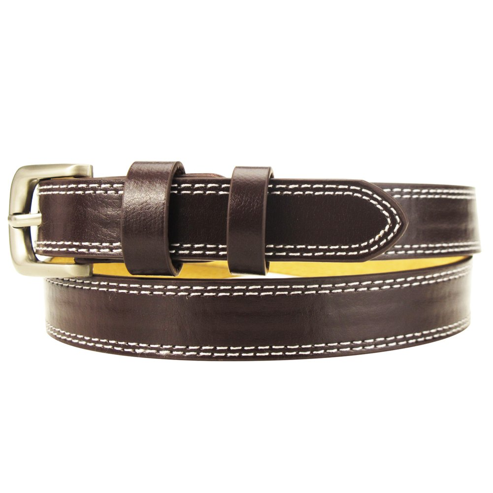 Women Skinny Leather Waist Belt with Fashion Polished Metal Buckle for Dress Jeans