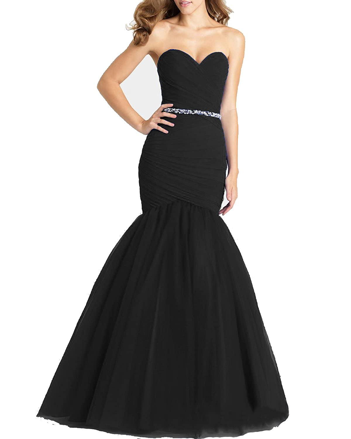 Black3 Lily Wedding Womens Strapless Lace Mermaid Wedding Dresses 2019 Long Sweetheart Bridal Gown Dress