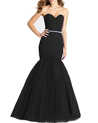 2c65884d7ae358 Lily Wedding Womens Long Sweetheart Mermaid Prom Dresses 2019 Sleeveless  Chiffon Evening Formal Ball Gown Size