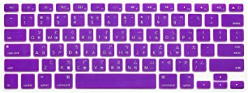 HQF Notebook SiliconeFrench Belgian Keyboard Skin Protection Laptop Layout for All Apple MacBook Air Pro 13 15 US Version French//English Keyboard Cover Purple