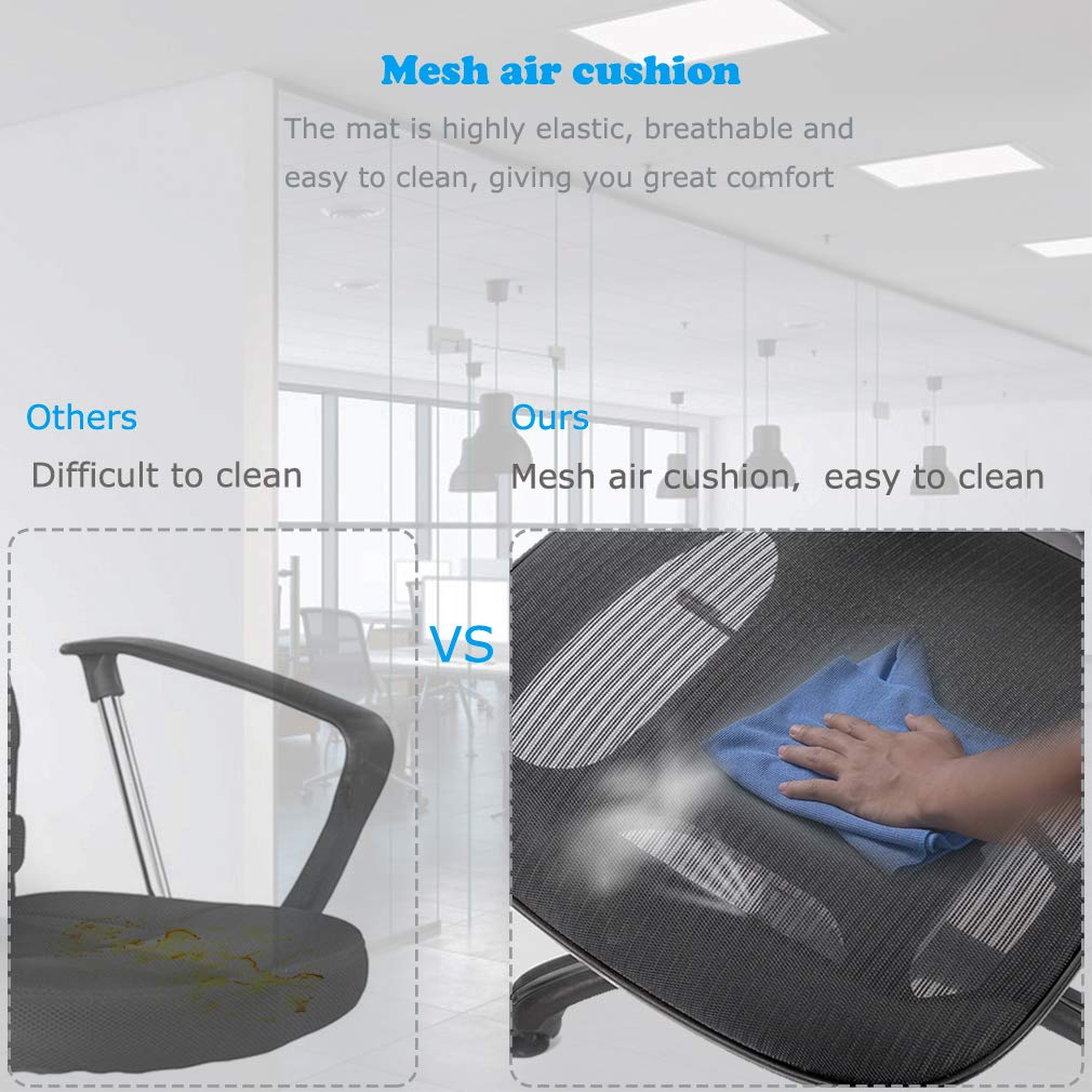 Computer Desk Office Chair, Ergonomic Executive Mesh Task Chair Lumbar Support for Office Chair with Flip-up Arms by BestOffice (Image #5)