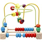 Lewo Wooden Baby Circle Beads Maze Roller Coaster Toddlers Educational Toys