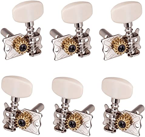 Gold 6 Pieces 3L 3R Open Tuning Pegs Tuners Machine Heads for Electric//Acoustic Guitar Parts as described